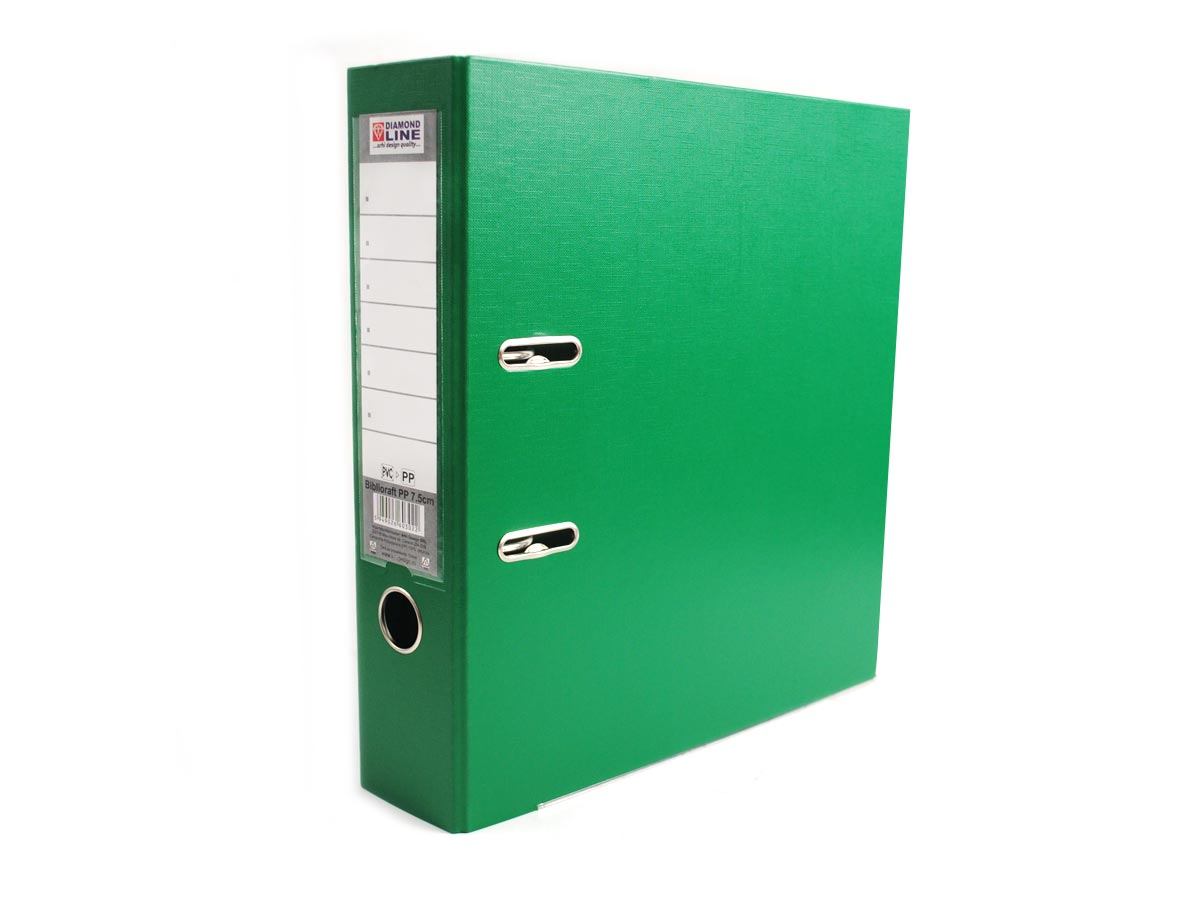 Biblioraft plastifiat PP Diamond line, Verde