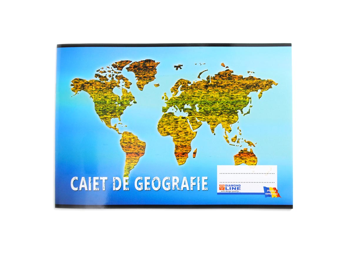 Caiet geografie Diamond line, 16 file