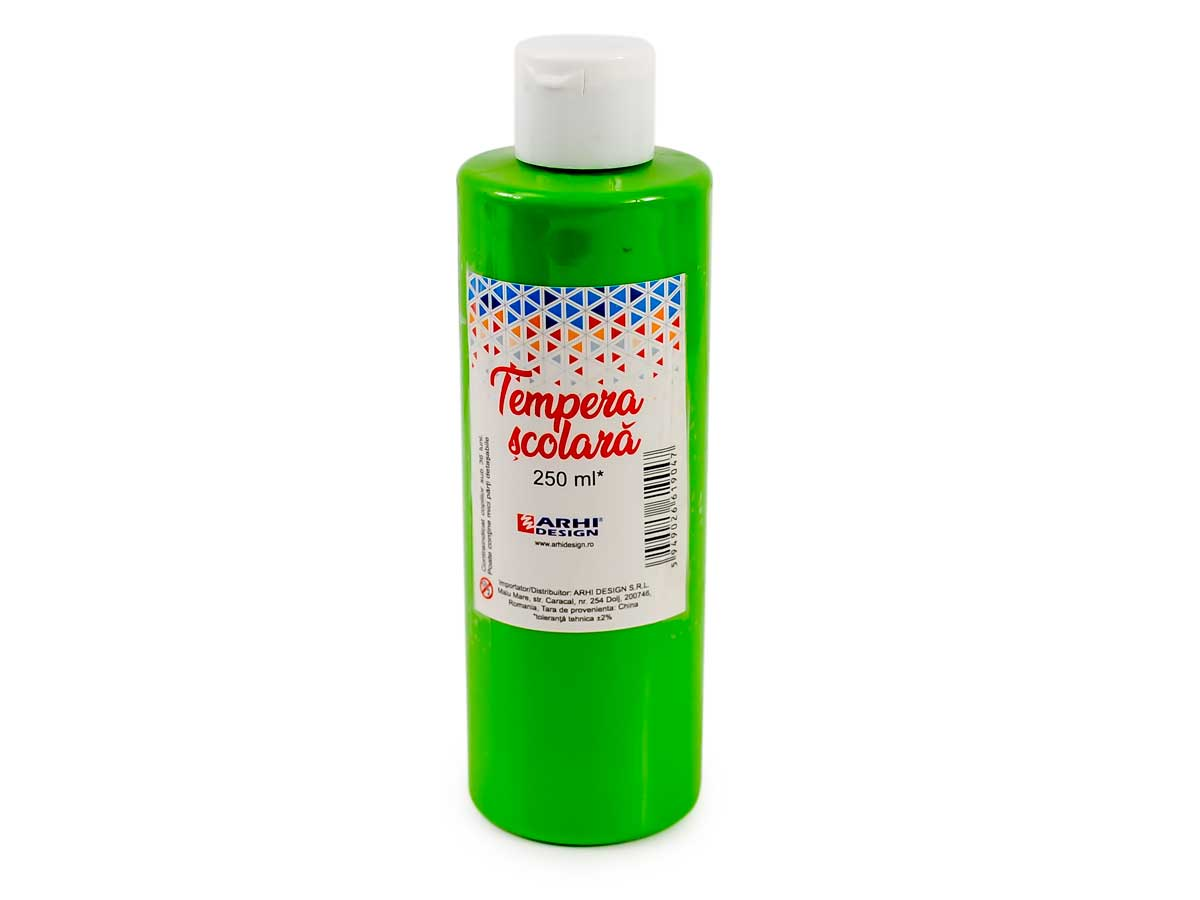 Tempera scolara 250 ml, Rosu